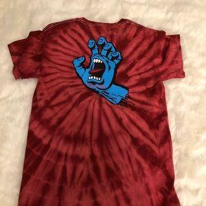 Other - Santa Cruz screaming hand tie dye shirt